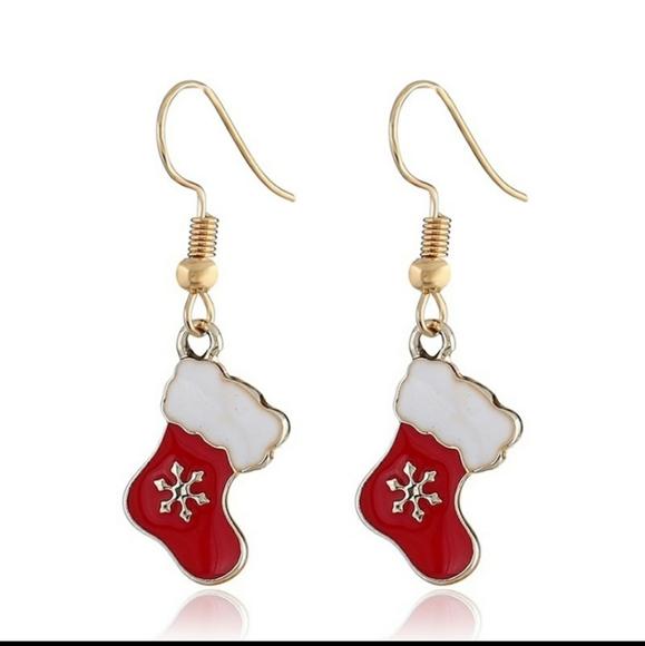 Jewelry - 3/$18 Christmas stocking earrings